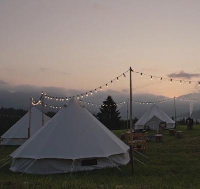 Unsere Zelte bei Soko Kitzbühel